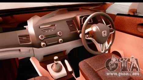 Honda Brio para visión interna GTA San Andreas