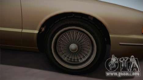 Declasse Premier 1992 SA Style para GTA San Andreas vista hacia atrás
