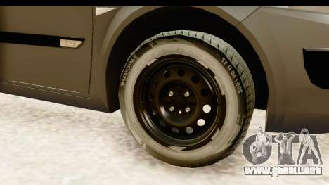 Renault Megane 2 Sedan Unmarked Police Car para GTA San Andreas vista hacia atrás