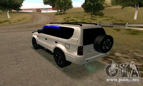 Toyota Land Cruiser 95 para GTA San Andreas left