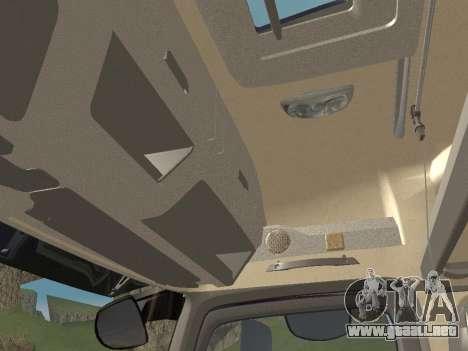 Mercedes-Benz Actros Mp4 6x4 v2.0 Gigaspace para la vista superior GTA San Andreas