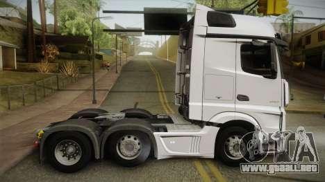 Mercedes-Benz Actros Mp4 6x2 v2.0 Bigspace v2 para GTA San Andreas left