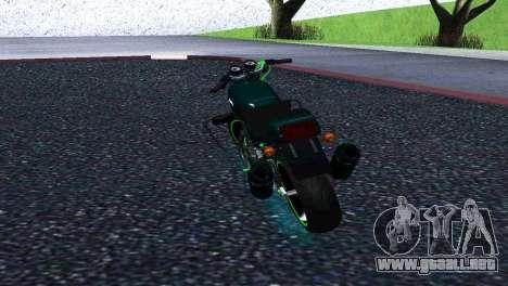 Jawa 350 638 Sports para GTA San Andreas vista posterior izquierda