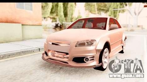 Audi S3 Slaam para la visión correcta GTA San Andreas