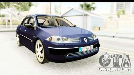 Renault Megane 2 Sedan 2003 v2 para la visión correcta GTA San Andreas