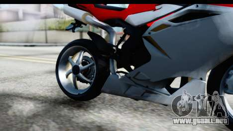 MV Agusta F4 para visión interna GTA San Andreas