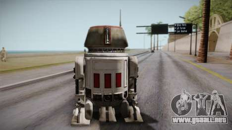 R5-D4 Droid from Battlefront para GTA San Andreas left