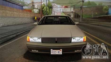 Declasse Premier 1992 SA Style para visión interna GTA San Andreas