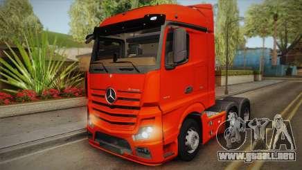 Mercedes-Benz Actros Mp4 6x2 v2.0 Steamspace v2 para GTA San Andreas