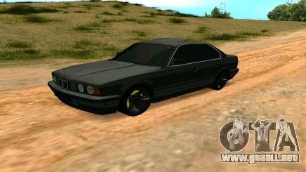 BMW 535i E34 gris para GTA San Andreas