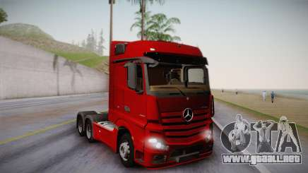 Mercedes-Benz Actros Mp4 6x4 v2.0 Bigspace v2 para GTA San Andreas
