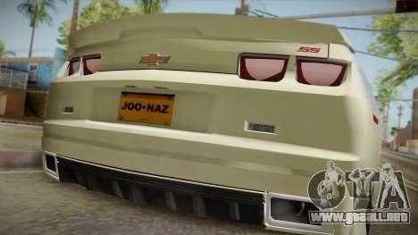 Chevrolet Camaro Synergy para GTA San Andreas vista hacia atrás
