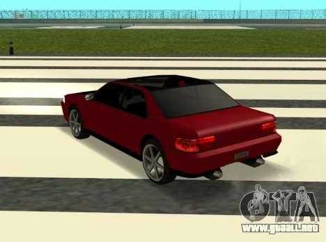 Sultan Kaefoon para GTA San Andreas vista posterior izquierda
