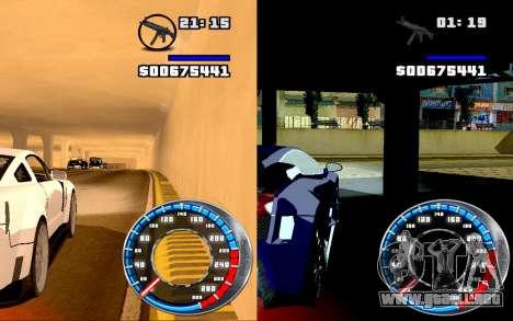 Velocímetro GTA SA Estilo V16x9 (widescreen) para GTA San Andreas tercera pantalla