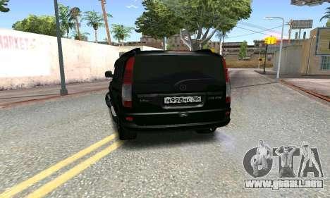 Mercedes-Benz Vito para GTA San Andreas vista posterior izquierda