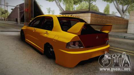 Mitsubishi Lancer Evolution IX Tuned para GTA San Andreas left