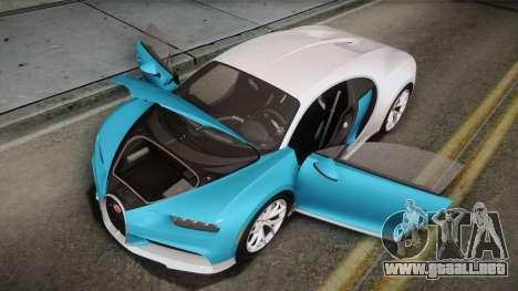 Bugatti Chiron 2017 para el motor de GTA San Andreas