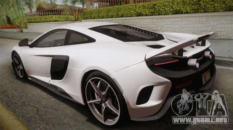 McLaren 675LT 2015 5-Spoke Wheels para GTA San Andreas left