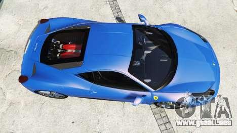 GTA 5 Ferrari 458 Italia v2.0 [replace] vista trasera