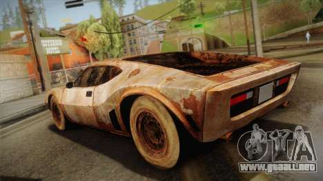 AMC AMX 3 39 1970 Rust para GTA San Andreas left