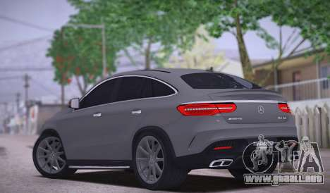 Mercedes-Benz GLE AMG para GTA San Andreas vista posterior izquierda
