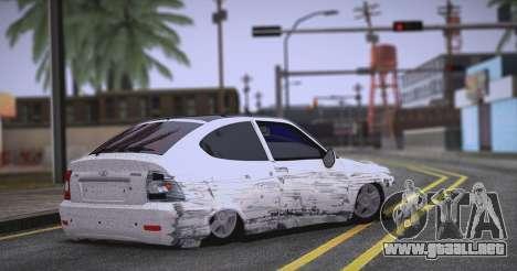 Lada Priora Brodyaga para GTA San Andreas vista posterior izquierda