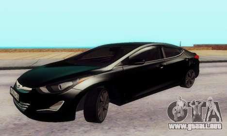 Hyundai Elantra 2015 para GTA San Andreas left