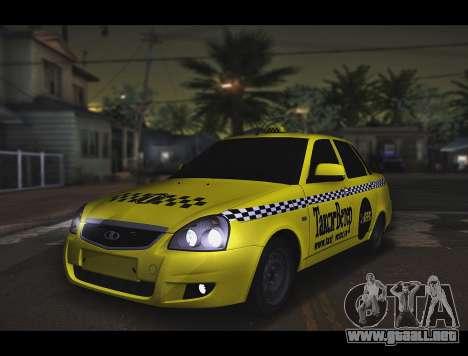 Lada Priora Taxi-El Viento para GTA San Andreas