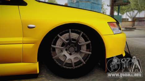 Mitsubishi Lancer Evolution IX Tuned para la visión correcta GTA San Andreas