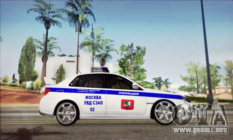 Subaru Impreza WRX STI Police para la visión correcta GTA San Andreas