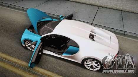 Bugatti Chiron 2017 para GTA San Andreas interior