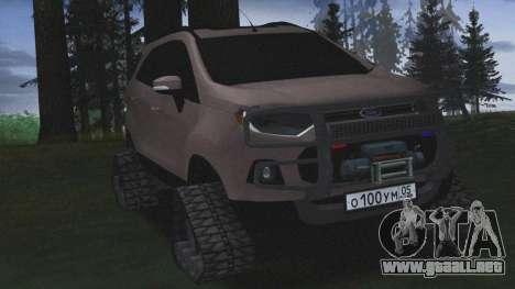 Ford Ecosport Off-Road para GTA San Andreas vista posterior izquierda