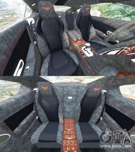 GTA 5 Bentley Continental GT 2012 [replace] delantero derecho vista lateral