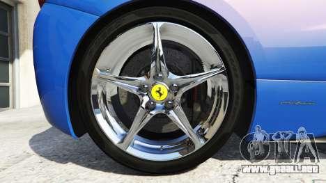 GTA 5 Ferrari 458 Italia v2.0 [replace] vista lateral trasera derecha