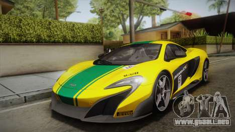 McLaren 675LT 2015 5-Spoke Wheels para visión interna GTA San Andreas