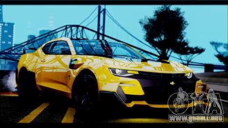 Chevrolet Camaro SS 2016 Bumblebee TF 5 para GTA San Andreas