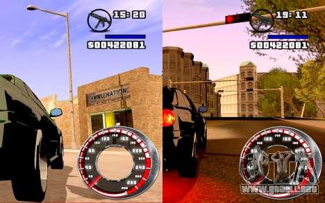 Velocímetro GTA SA Estilo V16x9 (widescreen) para GTA San Andreas segunda pantalla