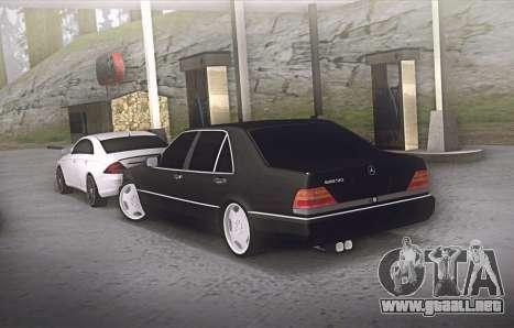Mercedes-Benz W140 600sel para GTA San Andreas vista posterior izquierda