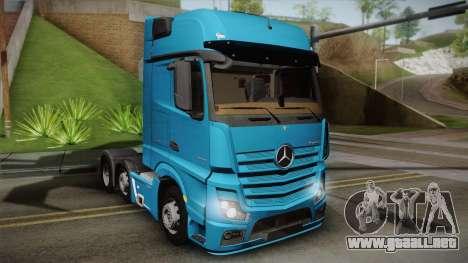Mercedes-Benz Actros Mp4 6x2 v2.0 Gigaspace para GTA San Andreas