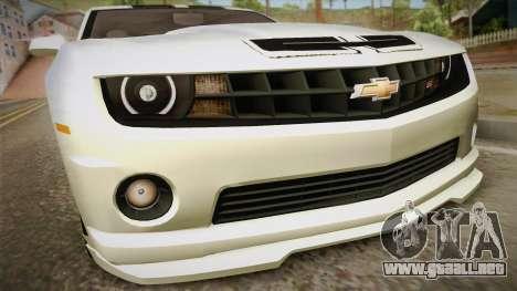 Chevrolet Camaro Synergy para la visión correcta GTA San Andreas