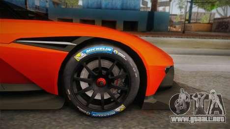 Aston Martin Vulcan para GTA San Andreas vista hacia atrás