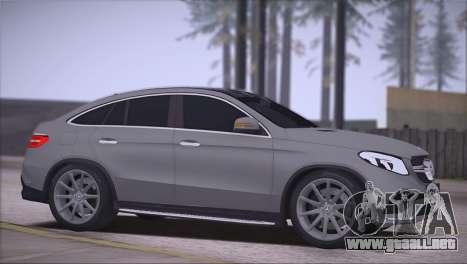 Mercedes-Benz GLE AMG para GTA San Andreas left