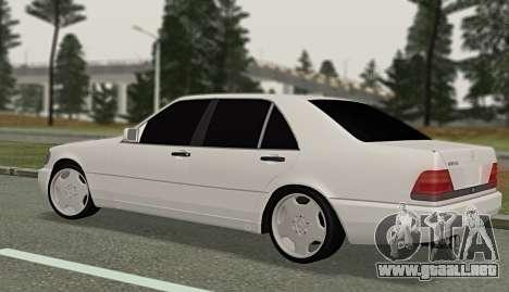 Mercedes-Benz W140 600sel para GTA San Andreas left