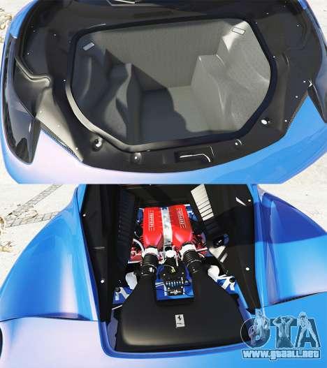 GTA 5 Ferrari 458 Italia v2.0 [replace] vista lateral derecha