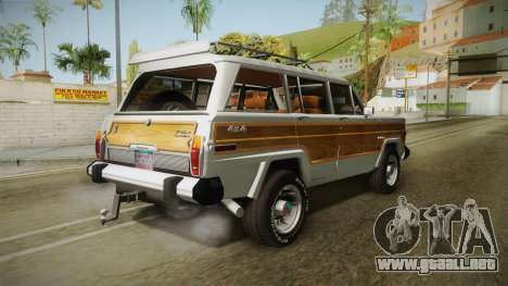 Jeep Grand Wagoneer Limite 1986 para GTA San Andreas left
