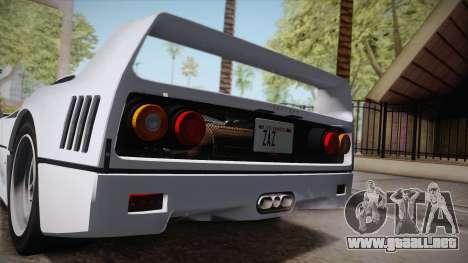 Ferrari F40 (EU-Spec) 1989 HQLM para GTA San Andreas left