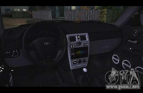 Lada Priora Taxi-El Viento para GTA San Andreas left