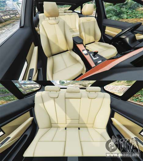 GTA 5 BMW 335i GT (F34) [add-on] delantero derecho vista lateral