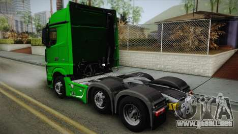 Mercedes-Benz Actros Mp4 6x2 v2.0 Bigspace para GTA San Andreas left