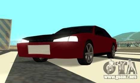 Sultan Kaefoon para GTA San Andreas vista hacia atrás